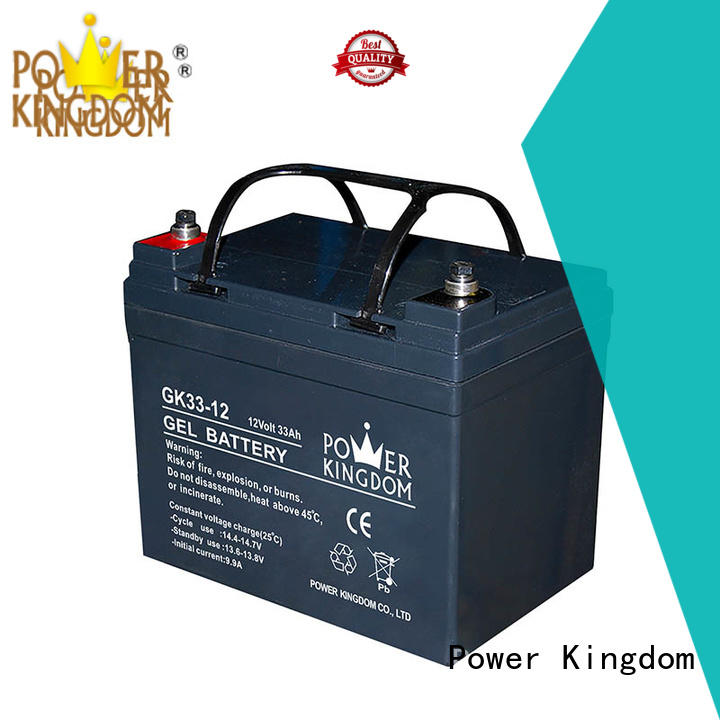 Power Kingdom fine workmanship agm solar battery factory price fire system