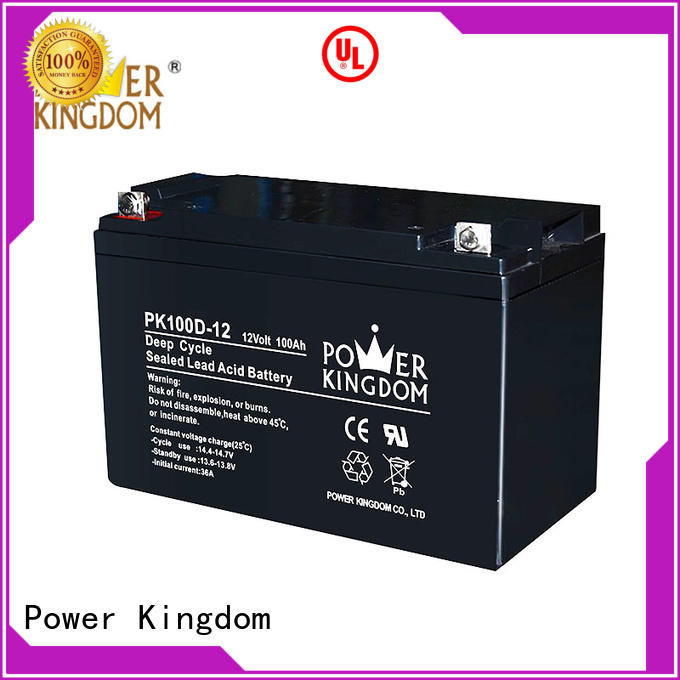 Power Kingdom Heat sealed design deep cycle lead acid battery factory price wind power systems