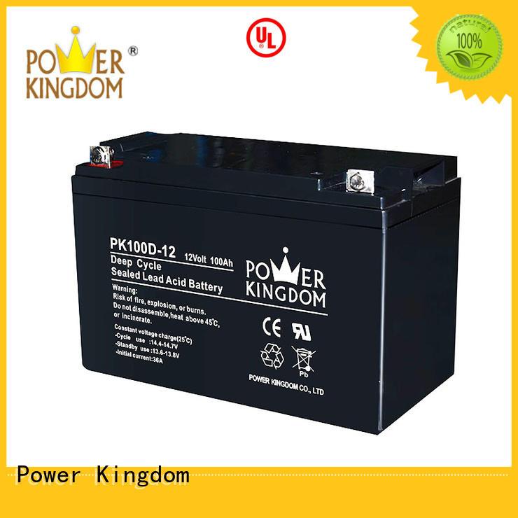 Power Kingdom solar deep cycle lead acid battery supplier