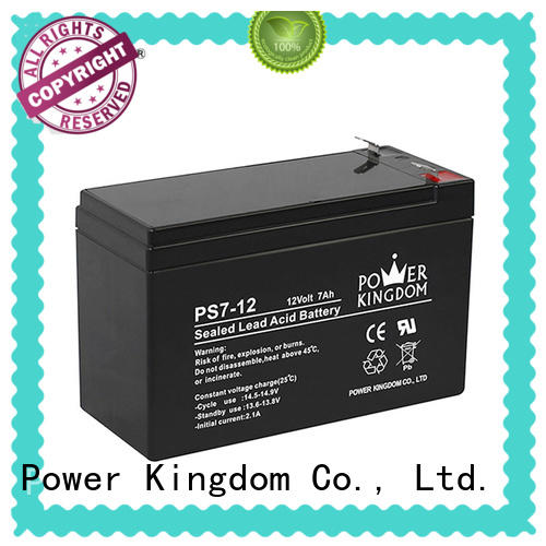 Power Kingdom fine manufacturing techniques sealed lead acid battery 12v 7ah china factory electric forklift