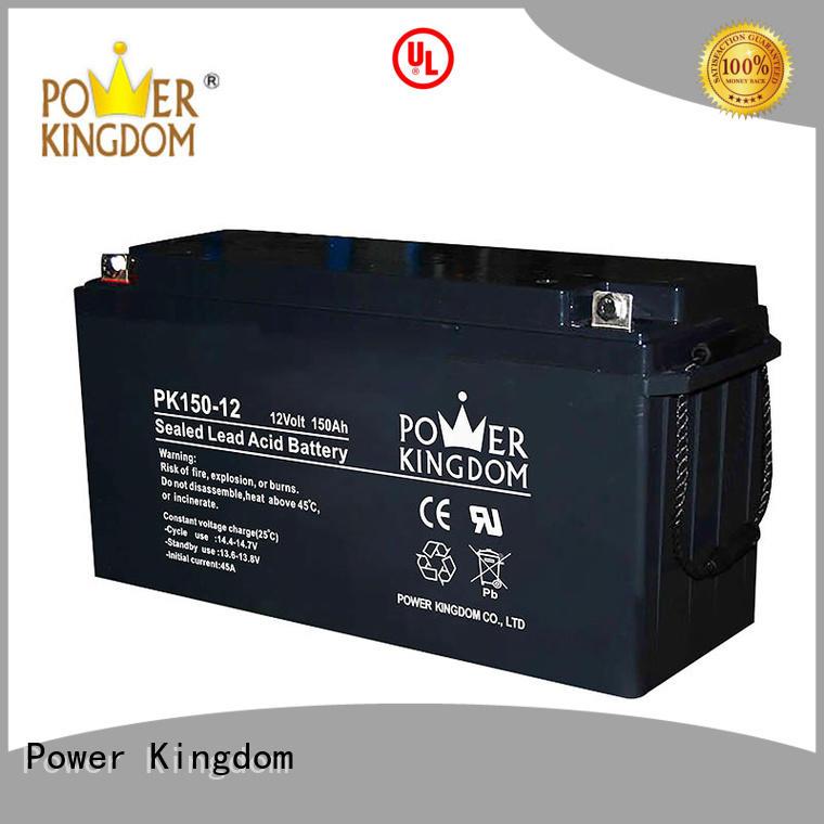 Power Kingdom 12v lead acid battery design solor system