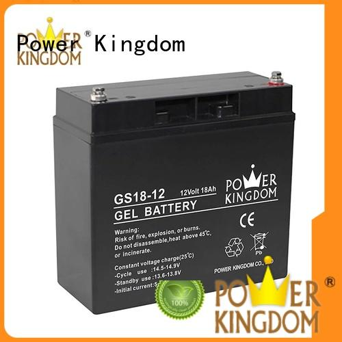 Power Kingdom 100ah agm battery factory price fire system