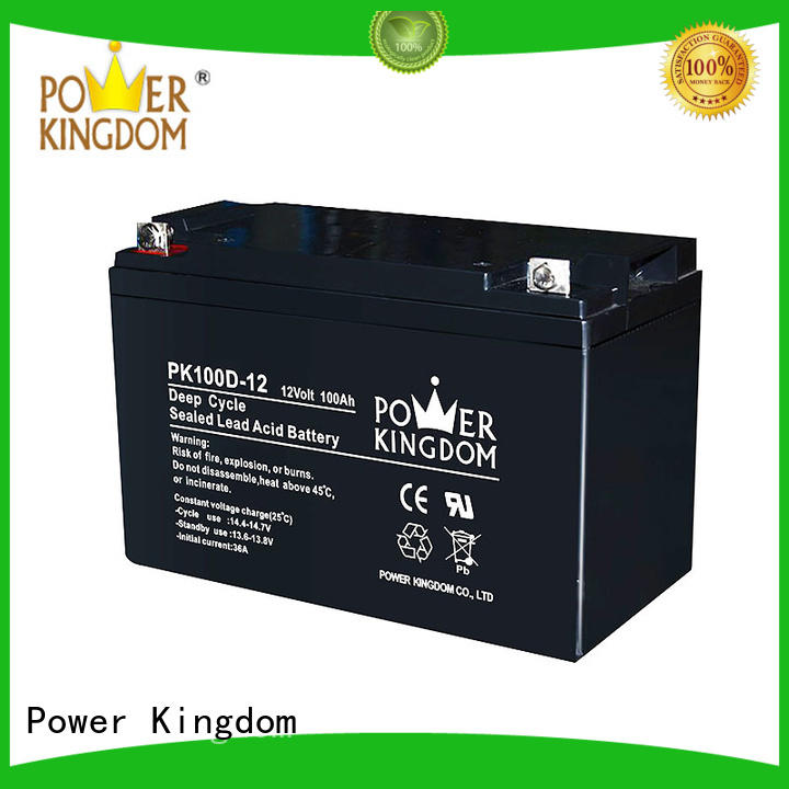 Power Kingdom solar 100ah deep cycle battery wholesale deep discharge device