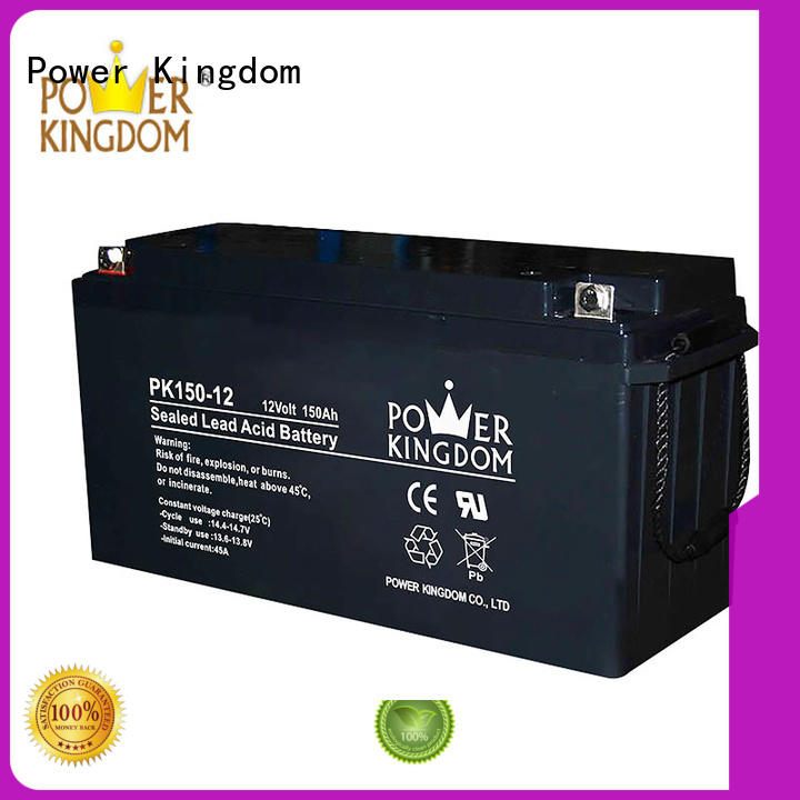 Power Kingdom higher specific energy rechargeable sealed lead acid battery factory solor system