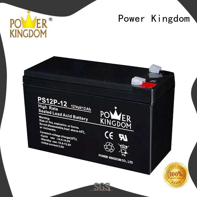 Power Kingdom lead acid battery self discharge factory price