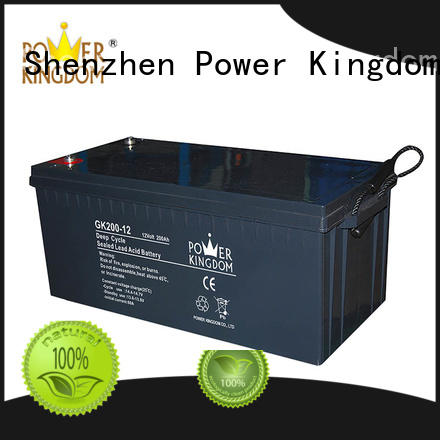 Power Kingdom solar 12 volt agm deep cycle battery company telecommunication