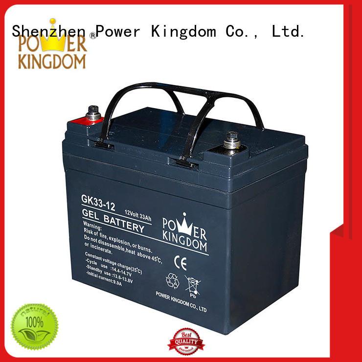 Power Kingdom good quality gel battery directly sale fire system