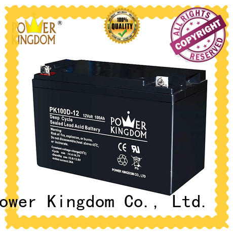 Power Kingdom poles design deep cycle lead acid battery factory price wind power systems