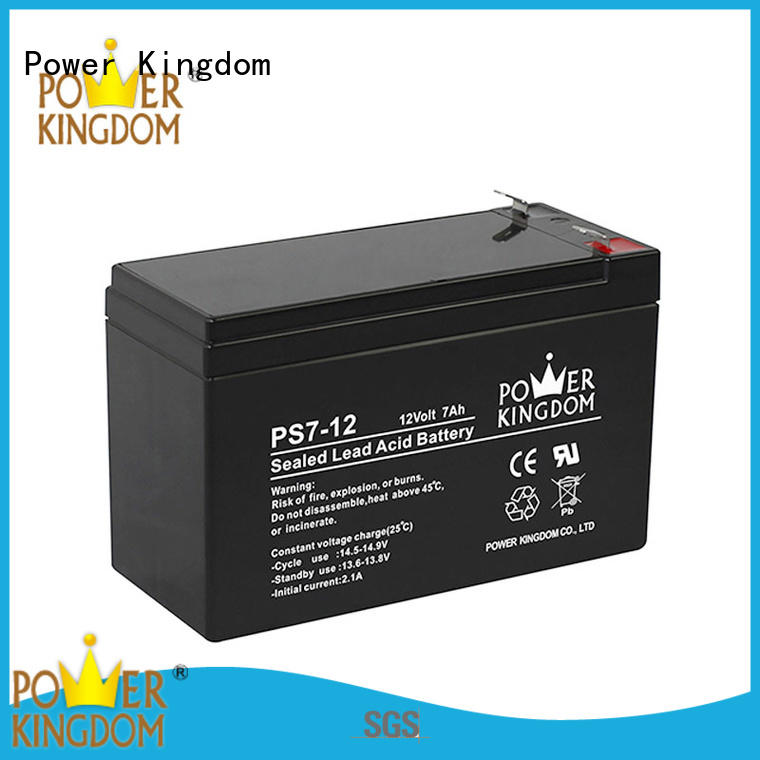 Power Kingdom sealed lead acid battery 12v 7ah china factory electric forklift