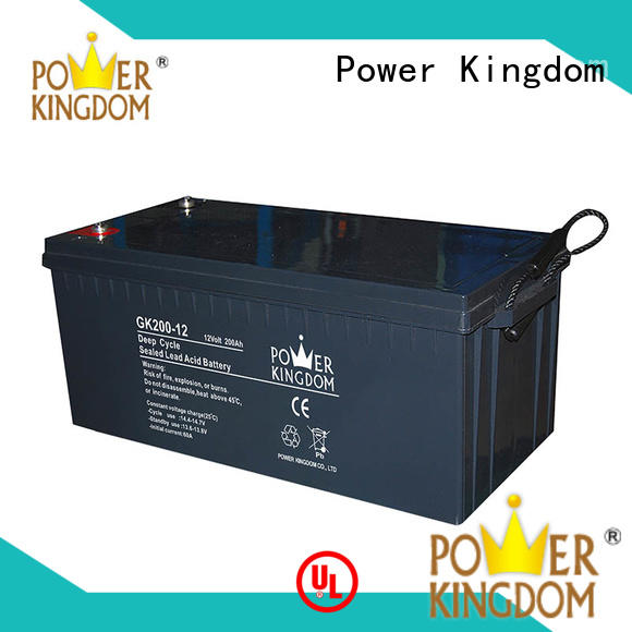 filled with Gel 12v agm deep cycle battery in Power Kingdom telecommunication