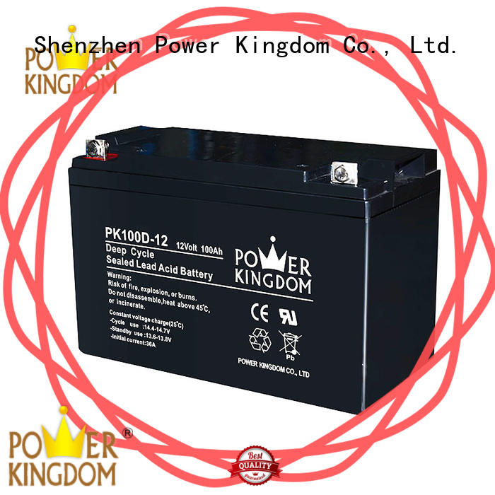 Power Kingdom deep deep cycle lead acid battery factory price vehile and power storage system