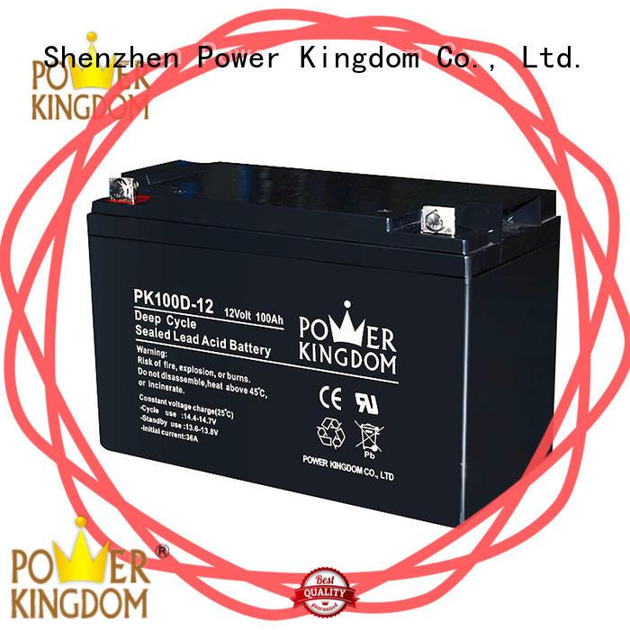 Power Kingdom deep deep cycle lead acid battery factory price vehile and power storage system
