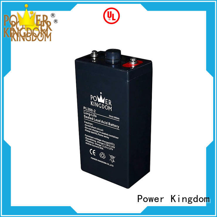Power Kingdom Special additives 12v vrla battery design UPS & EPS system