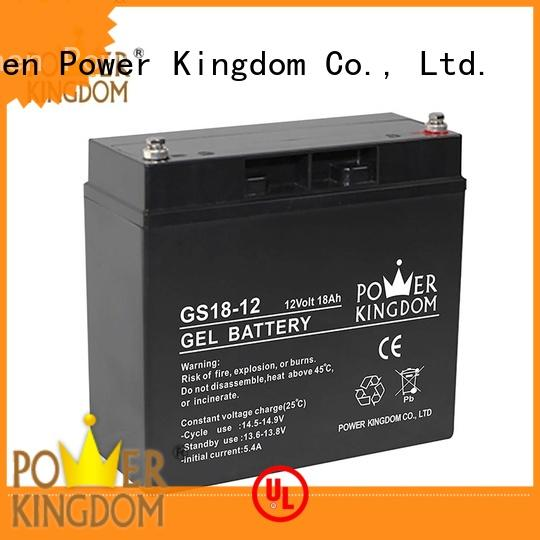 Power Kingdom agm solar battery directly sale fire system
