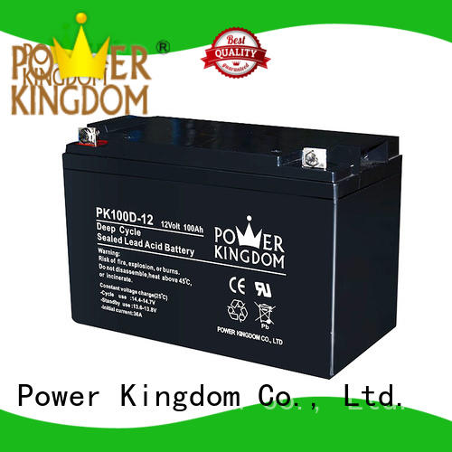 Power Kingdom Heat sealed design 12v deep cycle battery factory price vehile and power storage system