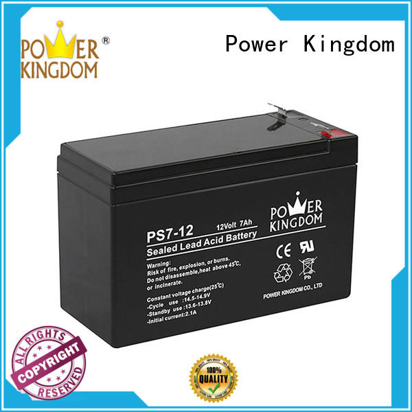 Power Kingdom Good materials sealed lead acid battery 12v 7ah promotion sightseeing cart