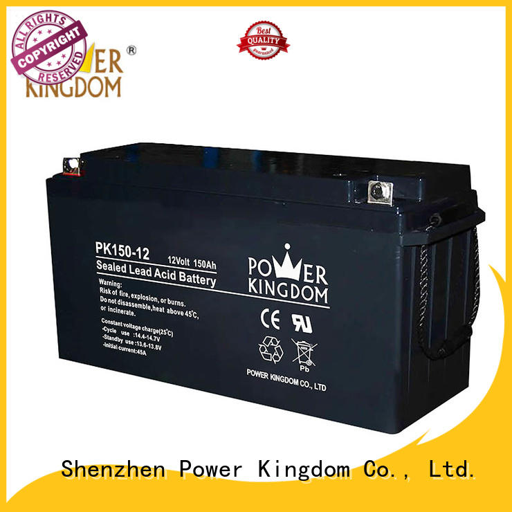 Power Kingdom higher specific energy 12v lead acid battery with good price wind power system