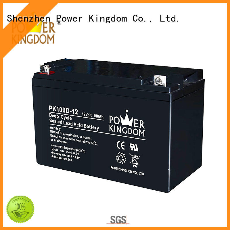 Power Kingdom 12v deep cycle battery factory price vehile and power storage system