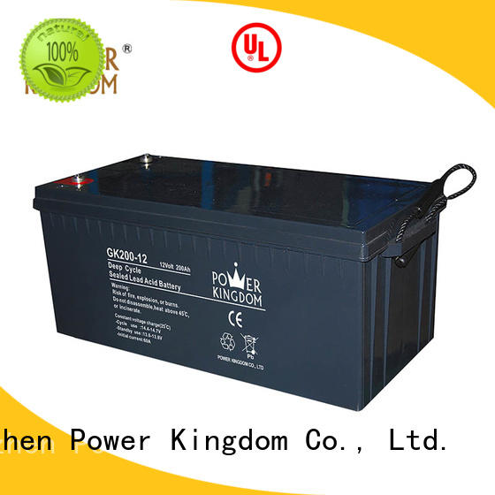 Power Kingdom stable performance 12 volt agm deep cycle battery in Power Kingdom telecommunication