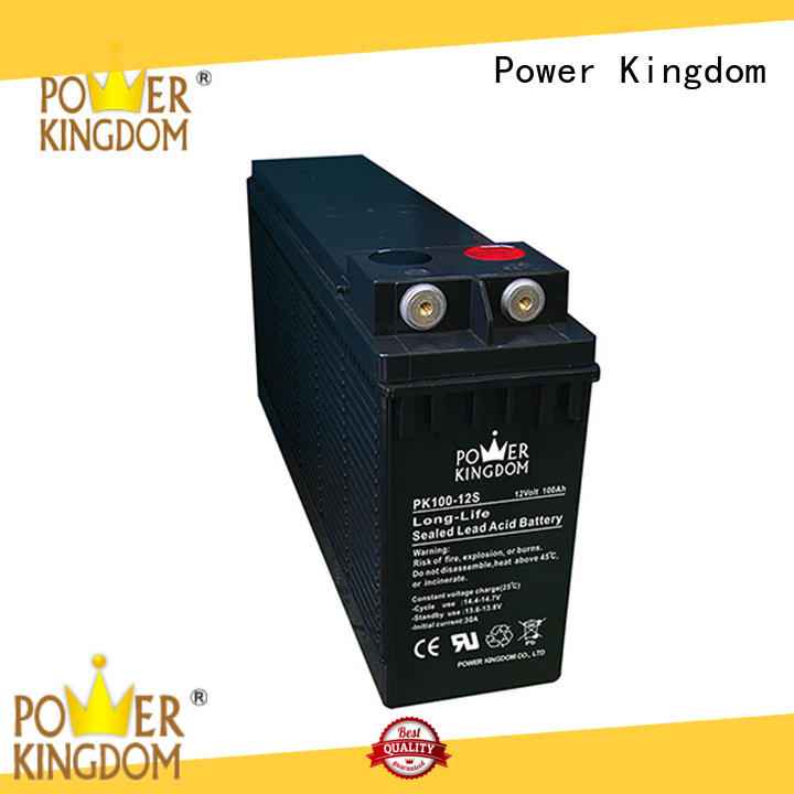 Power Kingdom Front terminal design 12v 100ah battery personalized power tools