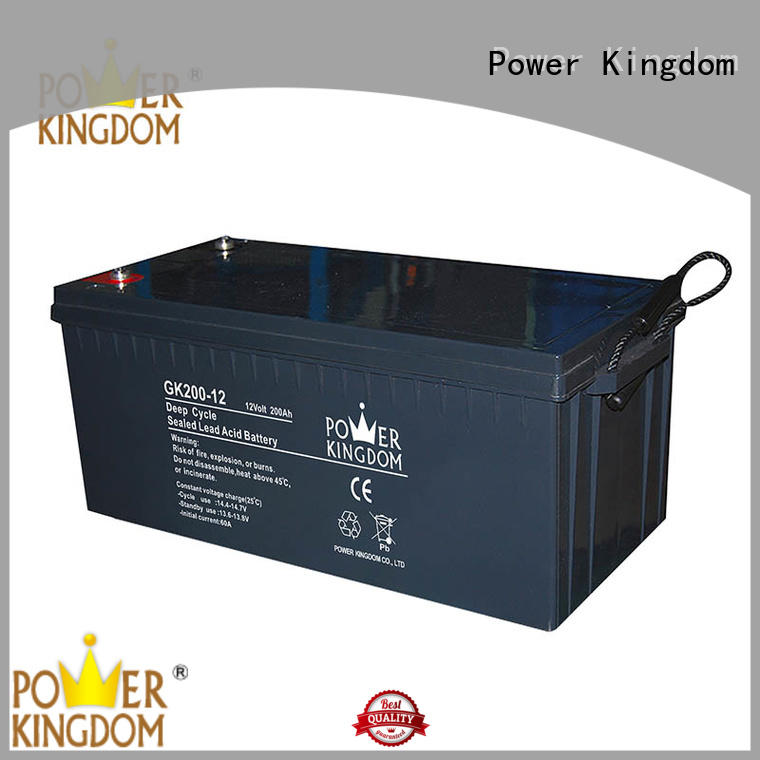 Power Kingdom deep cycle battery gel China manufacturer telecommunication