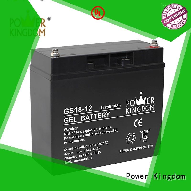 Power Kingdom good quality agm lead acid battery directly sale fire system