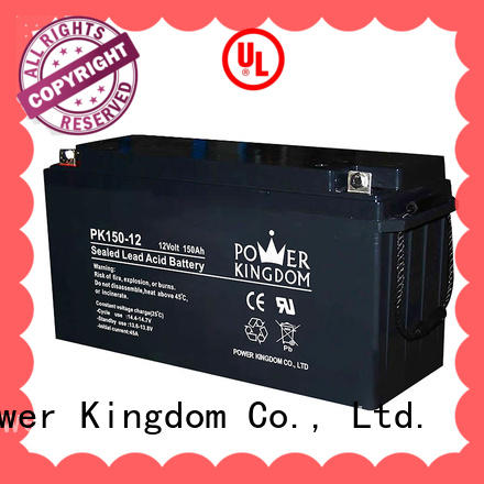 Power Kingdom high consistency 12v lead acid battery factory wind power system
