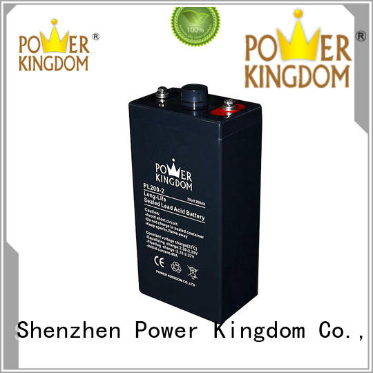 Power Kingdom vrla lead acid battery with good price Railway systems
