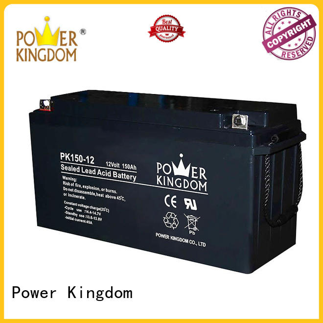 Power Kingdom rechargeable sealed lead acid battery with good price solor system