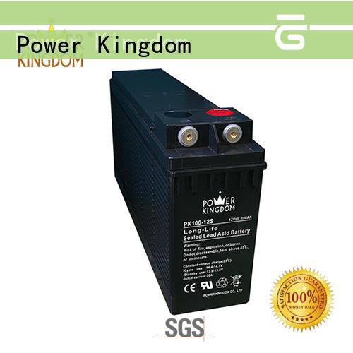 Power Kingdom popular 12v 100ah battery factory price railway station
