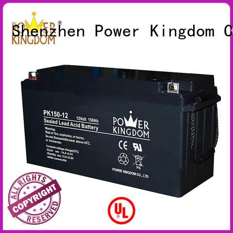 Power Kingdom higher specific energy rechargeable sealed lead acid battery factory wind power system