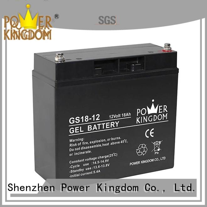 Power Kingdom agm lead acid battery directly sale fire system