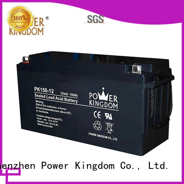 Power Kingdom high consistency rechargeable sealed lead acid battery factory solor system