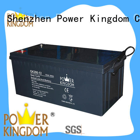 Power Kingdom stable performance 12v agm deep cycle battery China manufacturer Automatic door system