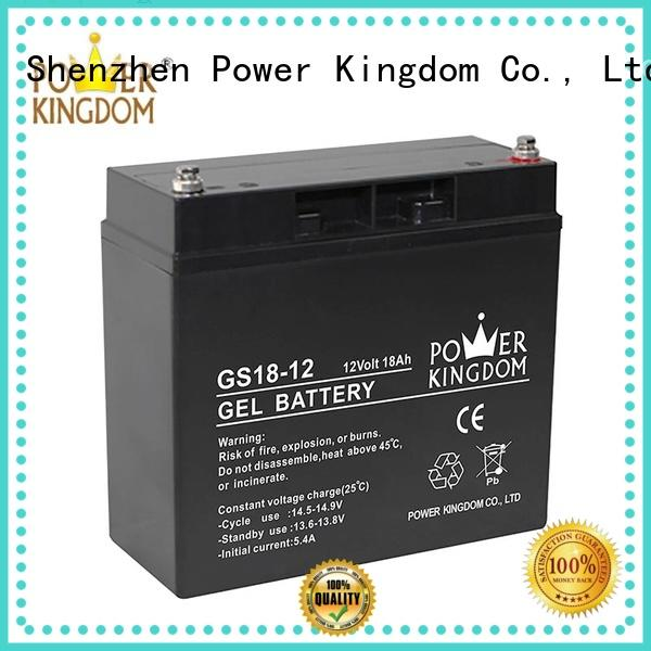 Power Kingdom agm lead acid battery factory price fire system