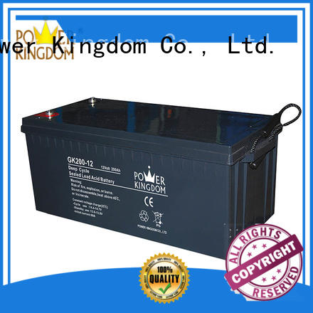 Power Kingdom solar 12v agm deep cycle battery China manufacturer Automatic door system