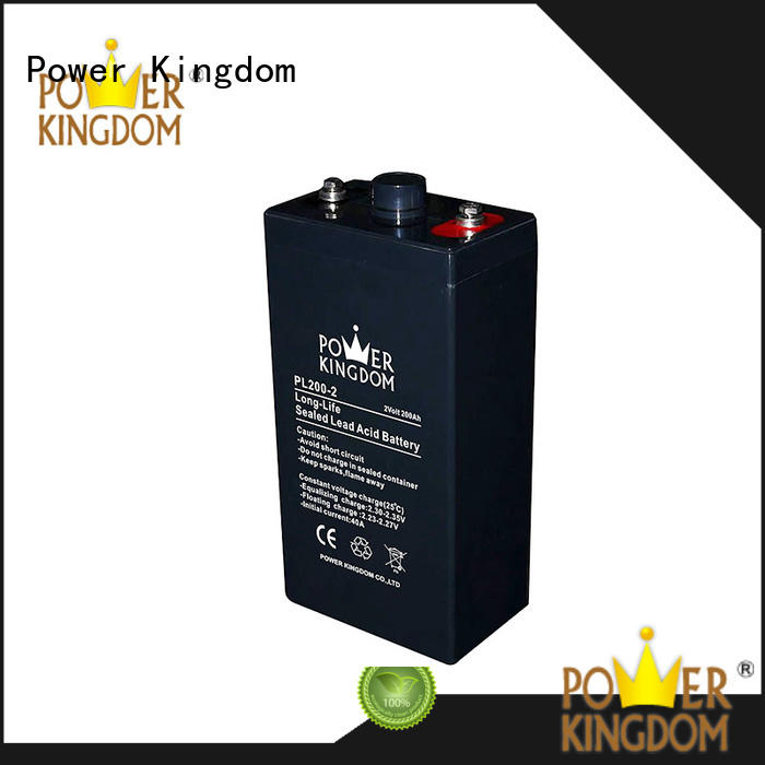 Power Kingdom new grid design 12v solar battery factory Railway systems