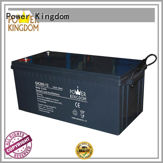 Power Kingdom 12 volt agm deep cycle battery China manufacturer standby power supplies