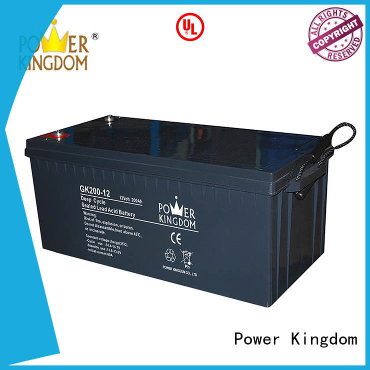 Power Kingdom wide operating temperature 12 volt agm deep cycle battery China manufacturer Automatic door system