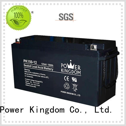 Power Kingdom high consistency 12v lead acid battery design solor system
