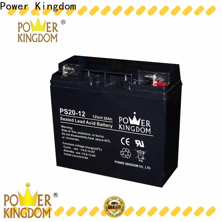 Power Kingdom Heat sealed design 100ah deep cycle battery factory price deep discharge device