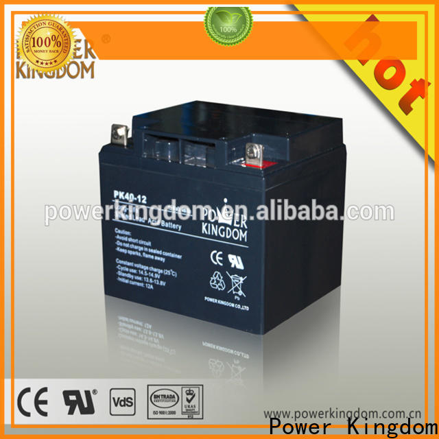 Power Kingdom Heat sealed design 12v deep cycle battery supplier deep discharge device