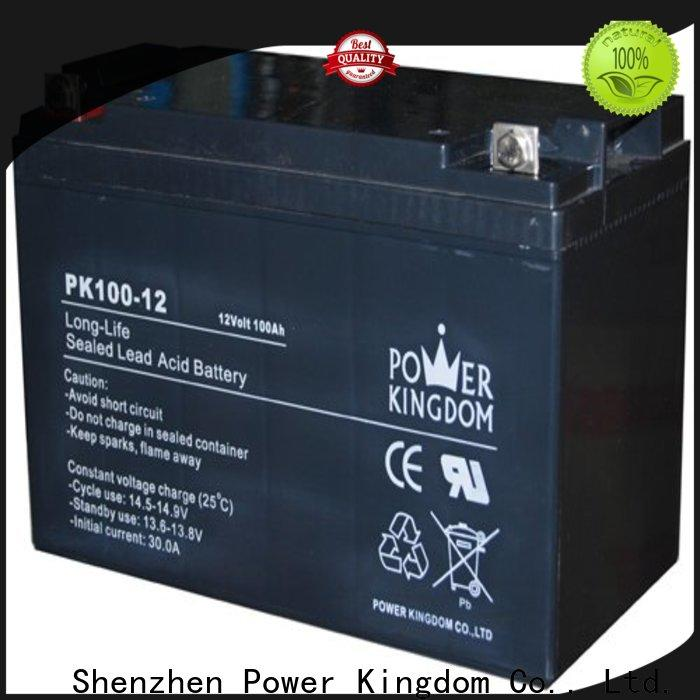 Power Kingdom cycle deep cycle gel batteries for sale factory price vehile and power storage system