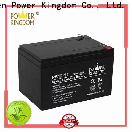 Power Kingdom poles design 130ah agm battery price factory deep discharge device