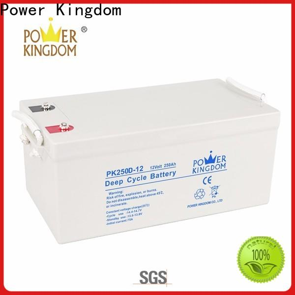Power Kingdom gel cell batteries for sale company solar and wind power system