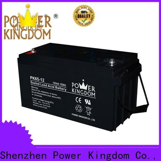 Power Kingdom Top 12 volt sealed agm battery factory price