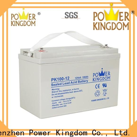 Power Kingdom Custom small gel motorcycle battery manufacturers solar and wind power system