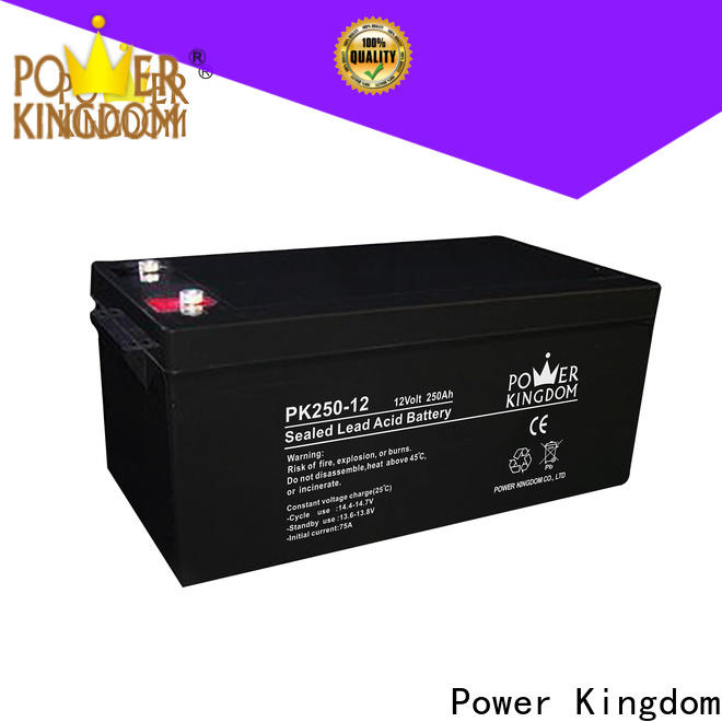 Power Kingdom advanced agm batteries for business solar and wind power system