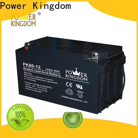 Power Kingdom mechanical operation wet lead acid battery factory price solar and wind power system