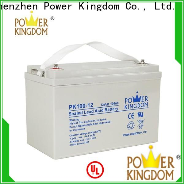 Power Kingdom advanced plate casters 100ah agm deep cycle battery factory Automatic door system